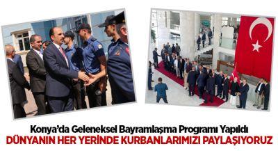 Konya`da Geleneksel Bayramlaşma Programı Yapıldı
