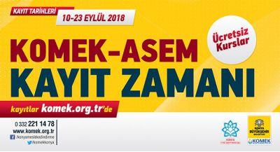 KOMEK ve ASEM`de Yeni Dönem Kayıtları Başlıyor
