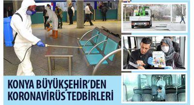 Konya Büyükşehir'den Koronavirüs Tedbirleri