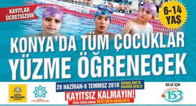 Konya`da tüm Çocuklar Yüzme Öırenecek