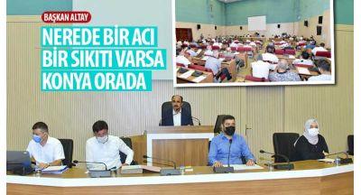 """Başkan Altay: """"Nerede Bir Acı, Bir Sıkıntı Varsa Konya Orada"""""""