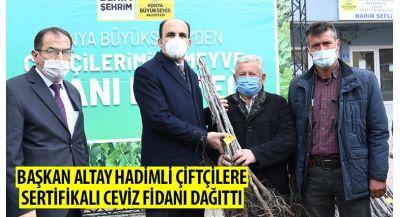 Başkan Altay Hadimli Çiftçilere Sertifikalı Ceviz Fidanı Dağıttı