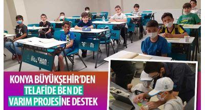 """Konya Büyükşehir'den """"Telafide Ben De Varım Projesi""""Ne Destek"""