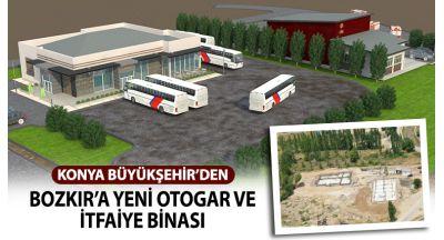 Konya Büyükşehir'den Bozkır'a Yeni Otogar ve İtfaiye Binası