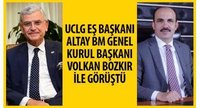 UCLG Eş Başkanı Altay Bm Genel Kurul Başkanı Volkan Bozkır İle Görüştü
