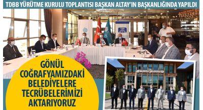 TDBB Yürütme Kurulu Toplantısı Başkan Altay'ın Başkanlığında Yapıldı