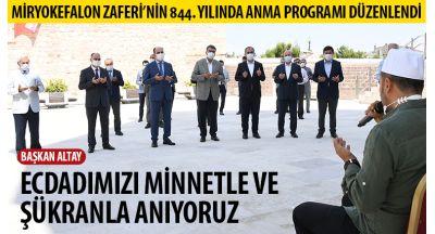 Miryokefalon Zaferi'nin 844. Yılında Anma Programı Düzenlendi