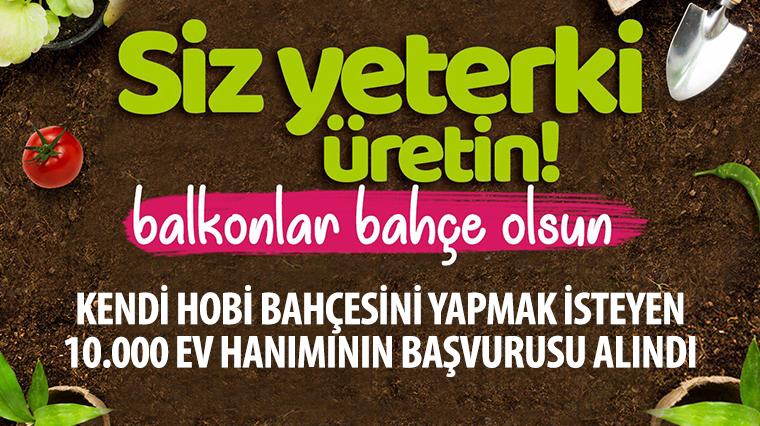 Konya Büyükşehir'den 10 Bin Ev Hanımına Fide Desteği