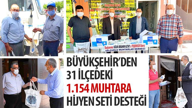 Konya Büyükşehir'den 31 İlçedeki 1.154 Muhtara Hijyen Seti Desteği