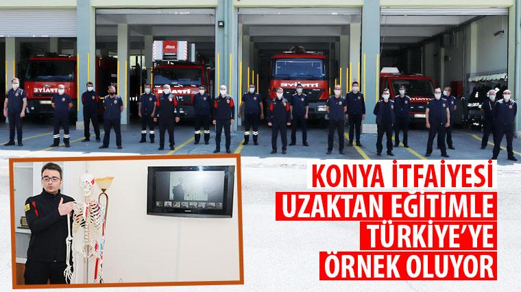 Konya İtfaiyesi Uzaktan Eğitimle Türkiye'ye Örnek Oluyor
