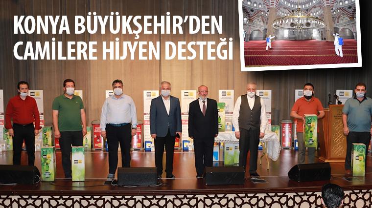 Konya Büyükşehir'den Camilere Hijyen Desteği
