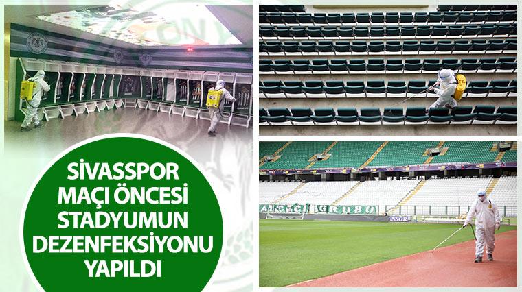 Sivasspor Maçı Öncesi Stadyumun Dezenfeksiyonu Yapıldı