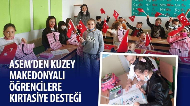 ASEM'den Kuzey Makedonyalı Öğrencilere Kırtasiye Desteği