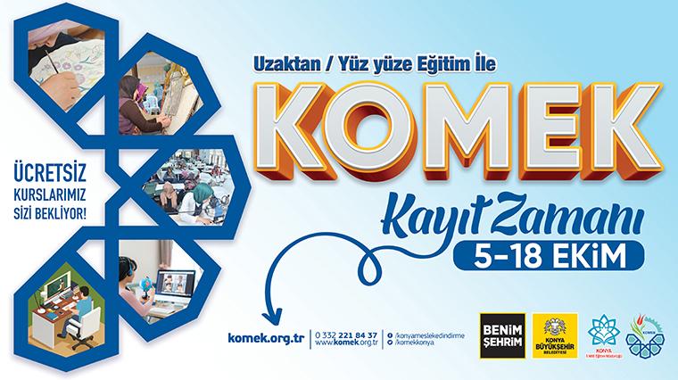 KOMEK ve ASEM'de Kayıt Heyecanı