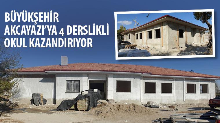 Büyükşehir Akcayazı'ya 4 Derslikli Okul Kazandırıyor
