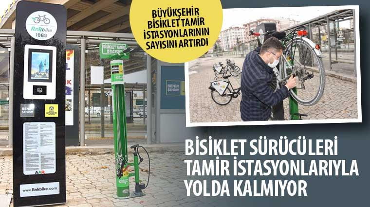 Büyükşehir Bisiklet Tamir İstasyonlarının Sayısını Artırdı