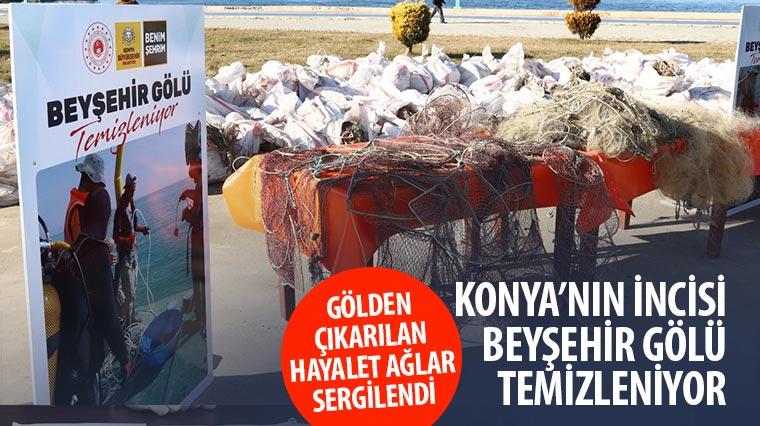 Konya'nın İncisi Beyşehir Gölü Temizleniyor