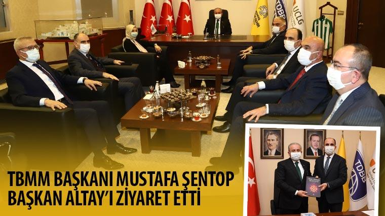 TBMM Başkanı Şentop Başkan Altay'ı Ziyaret Etti