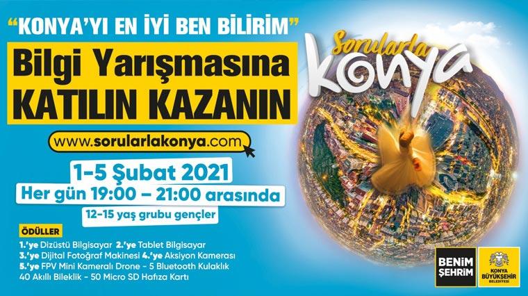 """Büyükşehir'den """"Sorularla Konya"""" Bilgi Yarışması"""