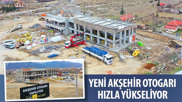 Yeni Akşehir Otogarı Hızla Yükseliyor